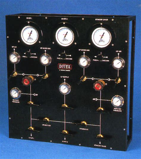 Panel Gas jfd divex 2 diver and standby air mixed gas panel