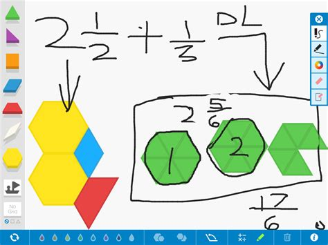 pattern blocks mixed numbers mixed number fractions with pattern blocks ms rice pirates