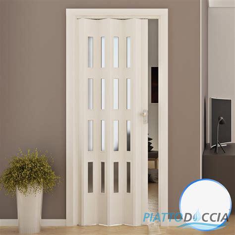 porte soffietto pvc porte porta a soffietto pvc 88 5x214 cm con vetro colori