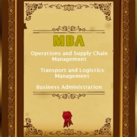 Mba In Supply Chain Management Distance Learning India by Mba In Operations And Supply Chain Management