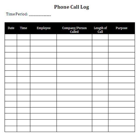 call log cards template call log template template business