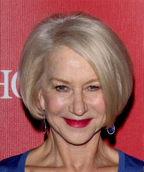 helen mirren how to style her bob helen mirren sleek bob try on this hairstyle and view