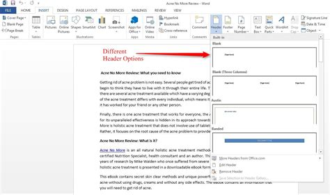 insert header footer page number in word 2013 wizapps