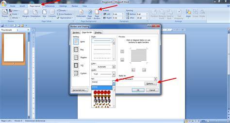 cara membuat halaman di lembar kerja word cara membuat bingkai di lembar kerja microsoft word 2007