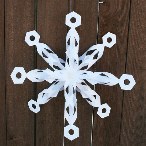 Folded Paper Snowflakes - folded dimensional paper snowflakes pazzles craft room