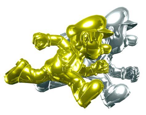 Bros Gold Gold Mario And Silver Luigi By Banjo2015