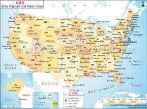 united states map with key cities major cities map of the united states maps pinterest