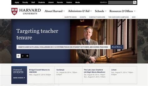 Web Design Inspiration University | 28 beautiful college and university websites