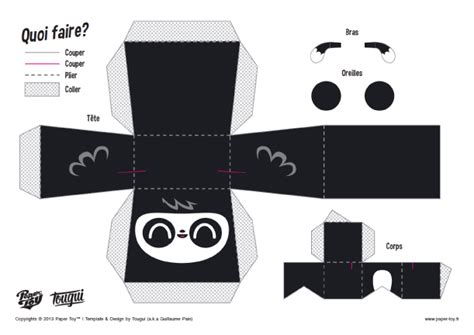 paper panda templates panda template crafts