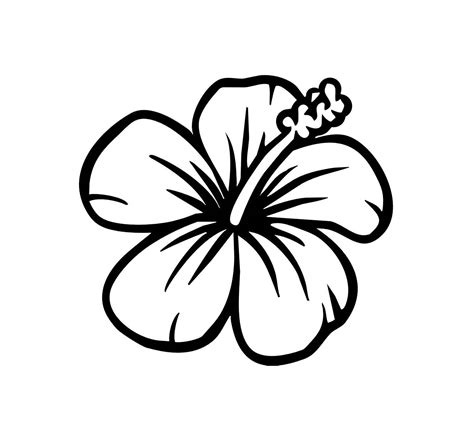 Easy Leaf Outline Image Nextinvitation Templates Art Projects Pinterest Hibiscus Hawaiian Flower Template