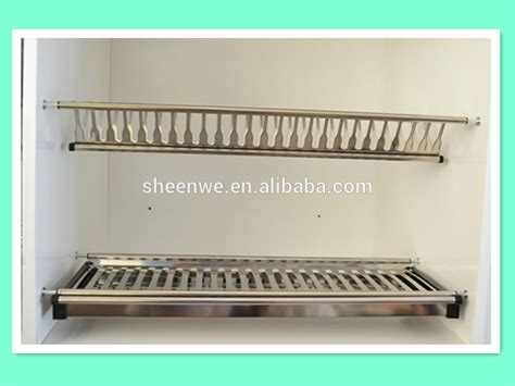 Kitchen Cabinet Dish Rack Wdj160 Guangzhou Kitchen Cabinet Stainless Steel Plate Rack With Dish Drainer Tray Buy Kitchen