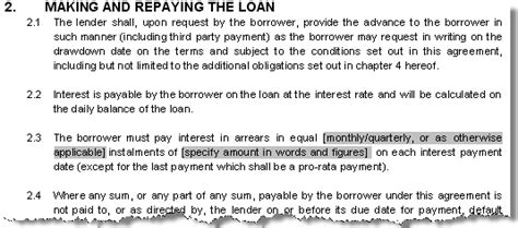 personal loan letter template contract  family