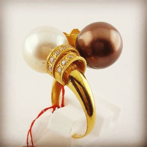 Cincin Handmade - handmade gold ring with south sea pearl cez 033 info