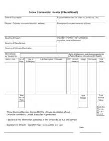 International Invoice Template by International Commercial Invoice Template Invoice Exle