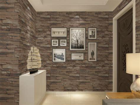 Textured Living Room Walls by Vinyl Textured Embossed Brick Wall Wallpaper Modern 3d