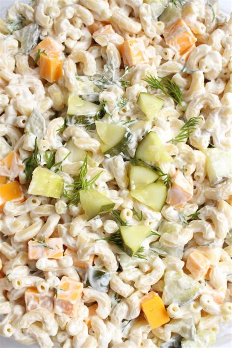 dill pickle pasta salad recipe family fresh meals