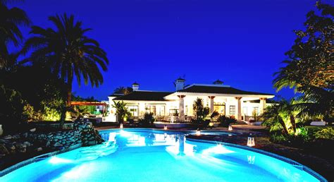 Basement Remodeling by Best View Of Mansion With Pool At Night With Great