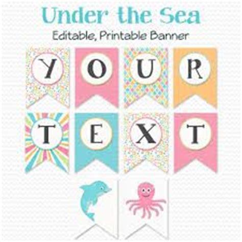 printable mermaid banner image result for free birthday banner printable templates