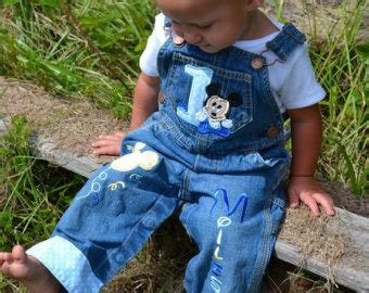Overal Mickey Baby baby mickey mouse personalized birthday overalls or