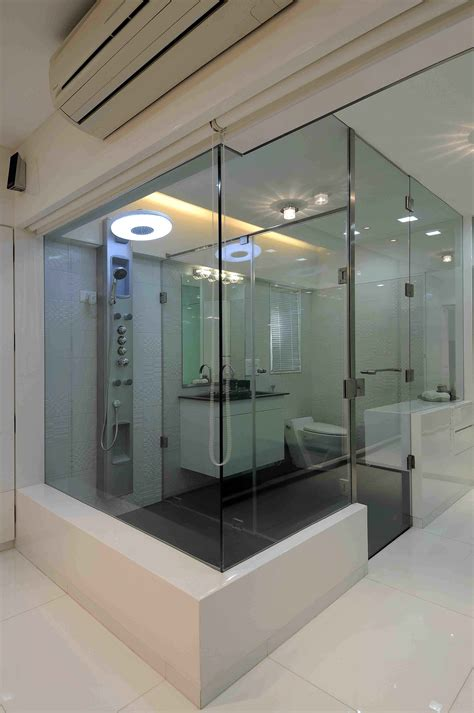 modern bathroom india luxury master bathroom with glass doors designed by