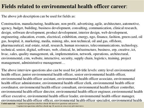 top 10 environmental health officer questions