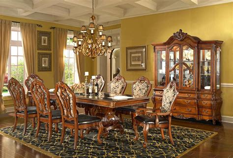 Pictures Of Formal Dining Rooms Traditional Formal Dining Room Set Homey Design Free Shipping Shopfactorydirect
