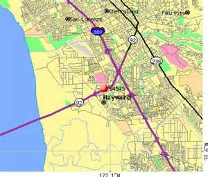 map of hayward california hayward california map