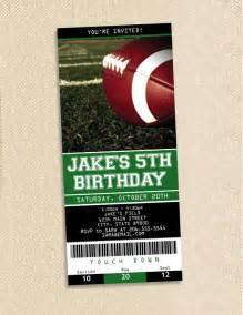 football ticket template football ticket birthday invitations set of 35 by polkaprints