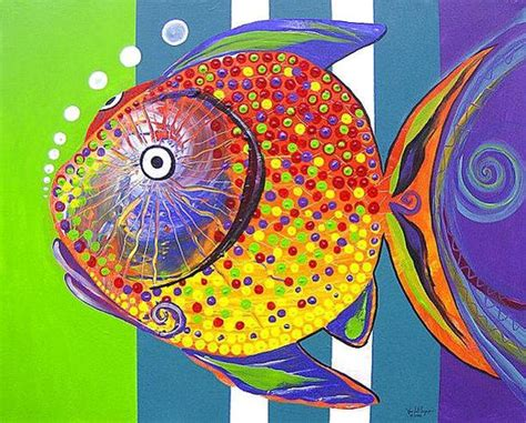 Sale Original j vincent scarpace artist original abstract fish