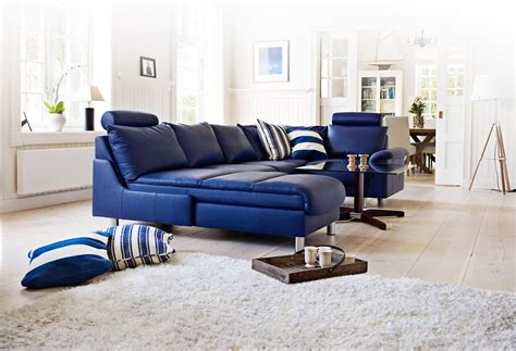 blue furniture comfortable blue leather sofa to add adorable living room