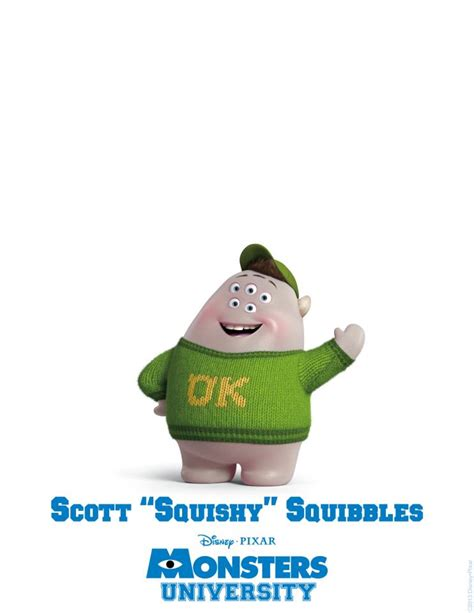 Squishy Character by Monsters Character Poster Squishy