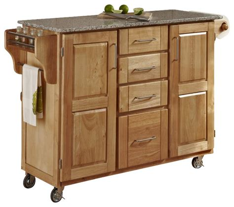 wood kitchen island cart home styles furniture salt and pepper granite kitchen cart