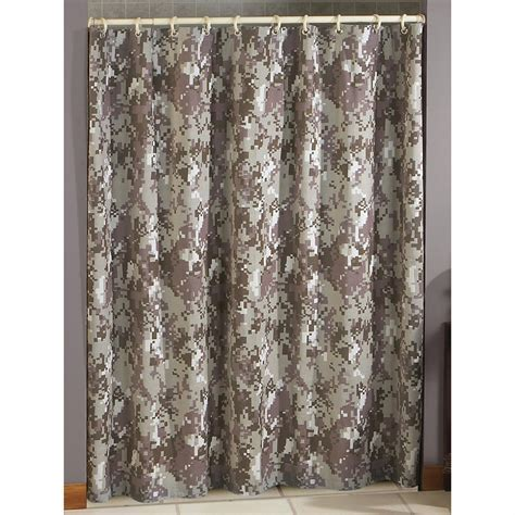 Camo Netting Curtains Terry Cloth Shower Curtain Digital Green Camo 146666 Bath At Sportsman S Guide