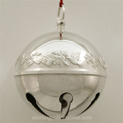 wallace silver bell 2018 1977 wallace sleigh bell silverplate ornament sterling collectables
