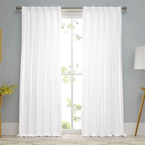 matelasse drapes real simple 174 linear woven ribbed matelasse window curtain