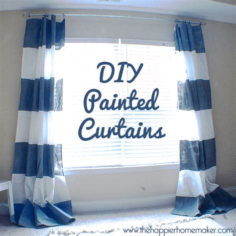 diy painted curtains diy painted striped curtains west elm knock off the