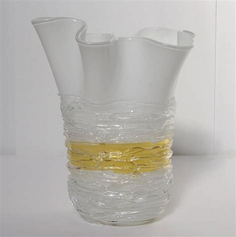 Italian Glass Vase by Italian Murano Glass Vase By Camozzo For Sale At 1stdibs