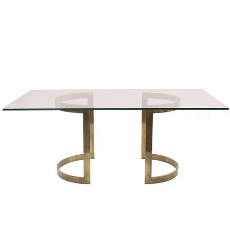 milo baughman bronze and glass dining table at 1stdibs