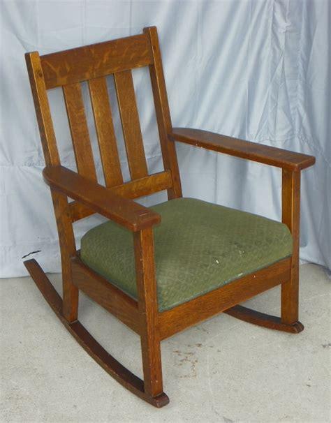 Antique Oak Rocking Chair bargain s antiques 187 archive antique mission oak