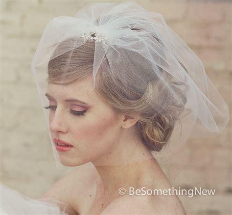Wedding Hair With Birdcage Veil by Wedding Viel Tulle Birdcage Veil With Flower Rhinestone