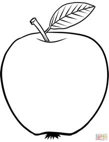 apple color apple coloring page free printable coloring pages
