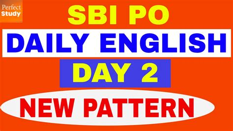 english pattern for ibps po ibps po daily english new pattern high level day 2