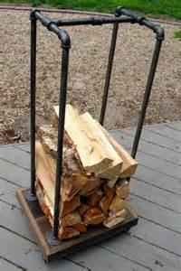 firewood holder best 25 industrial firewood racks ideas on pinterest