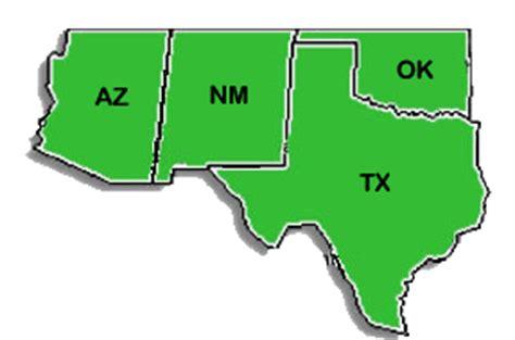 map of the united states southwest region us geography southwest