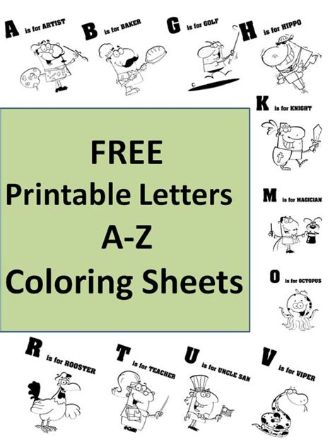 printable alphabet letters with pictures and words free printable letters a z coloring sheets i love the