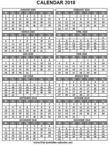 Printable Yearly Calendar 2018 2018 Calendar Yearly Print Calendars From