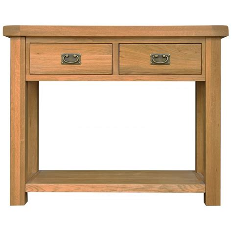 emporium home montreux solid oak medium console table