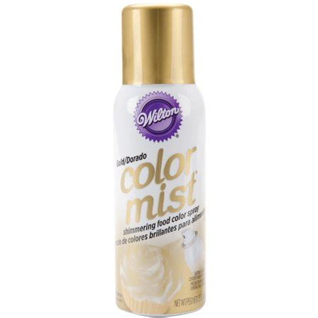 wilton color mist wilton gold color mist shimmering food color spray 1 5 oz