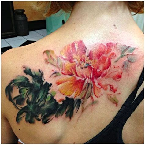 watercolor peony tattoo 23 watercolor peony tattoos design and ideas