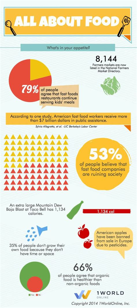 about food infographic all about food infographics